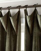 """6009 Parker 120""""L Tie-Top Velvet Curtain"""