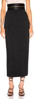 Brandon Maxwell Zipper Waistband Pencil Skirt in Black | FWRD