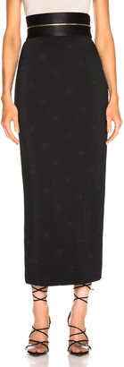 Brandon Maxwell Zipper Waistband Pencil Skirt in Black | FWRD