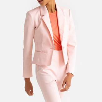 La Redoute Collections Short Fitted Single-Breasted Blazer