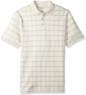 Van Heusen Men's Tall Printed Short Sleeve Windowpane Polo Shirt