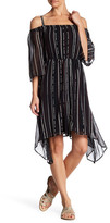 Matty M Off Shoulder Stripe Dress