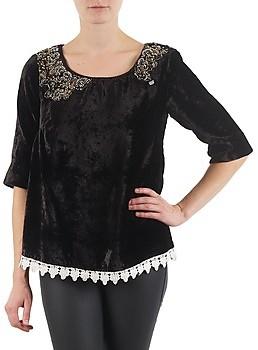 Lollipops PILOW TOP women's Long Sleeve T-shirt in Black