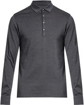 Ermenegildo Zegna Long-sleeved wool and silk-blend polo shirt