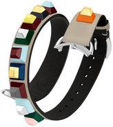 Fendi 17mm Dolce Stud Tan Leather Watch Strap