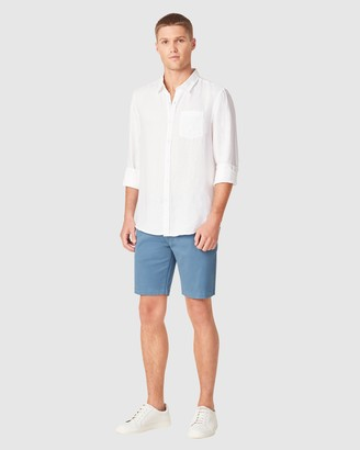French Connection Men's Shorts - Slim Fit Stretch Chino Shorts - Size One Size, 28 at The Iconic