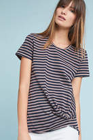 Stateside Twisted-Front Stripe Top