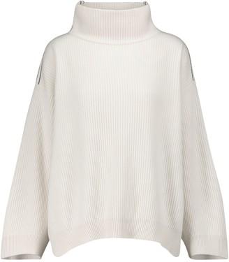 Brunello Cucinelli Embellished cashmere turtleneck sweater