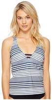 Nautica Seabrook Racerback Tankini Top Women's Swimwear