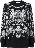 Givenchy Tattoo print sweatshirt - women - Cotton - M