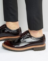 Grenson Sid Leather Derby Brogue Shoes