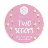 Savvy Nail Remover Wipes with Cuticle Oil 50 wipes