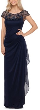 Xscape Evenings Embellished-Neck Gown