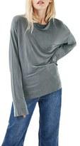 Topshop Women's Cowl Neck Cupro Top