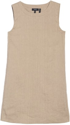 Theory Sleeveless Linen Blend Mini Dress
