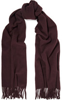 Acne Studios Canada Narrow Fringed Wool Scarf - Merlot