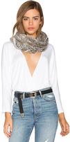 Adrienne Landau Knit Rabbit Fur Scarf