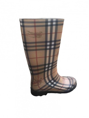 Burberry Camel Rubber Ankle boots
