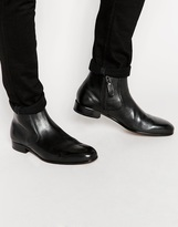 Ted Baker Brysen Leather Zip Boots - Black
