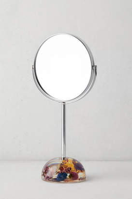Urban Outfitters Acrylic Dried Floral Tabletop Mirror