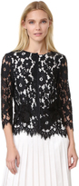 Marc Jacobs Floral Lace Top