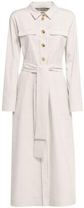 S Max Mara Zinco Buttoned Cotton Gabardine Dress