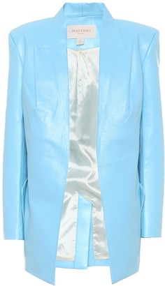 MATÉRIEL Faux leather longline blazer