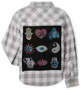 Butter Shoes Girls 7-16) Everything Zen Check Flannel Shirt