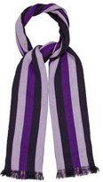 Mulberry Striped Wool Scarf