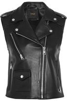 Maje Leather Vest - Black