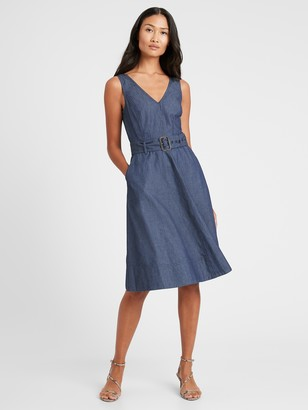 Banana Republic Denim V-Neck Dress