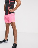Asos 4505 4505 icon training shorts in mid length in neon pink