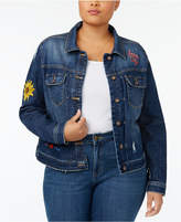 Lee Platinum Plus Size Embroidered Denim Jacket