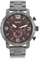 Fossil Nate Smoke Stainless Steel Chronograph Watch