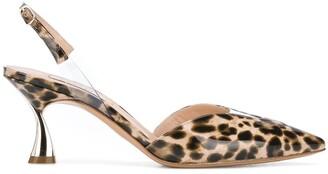 Casadei Leopard Print Slingback Pumps