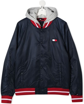 Tommy Hilfiger Junior TEEN hooded bomber jacket