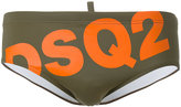 DSQUARED2 slanted logo swim brief - men - Polyamide/Spandex/Elastane - 44