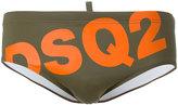 DSQUARED2 slanted logo swim brief - men - Polyamide/Spandex/Elastane - 46
