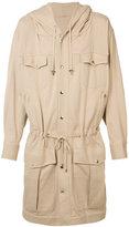 Balmain long drawstring jacket - men - Cotton - XS