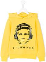 John Richmond Kids headphone print hoodie