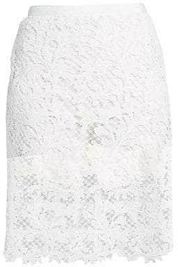 Sacai Women's Embroidered Lace Pencil Skirt