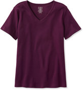 L.L. Bean Pima Cotton Tee, V-Neck Short-Sleeve