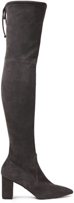 Stuart Weitzman Lesley 75 Suede Over-the-knee Boots