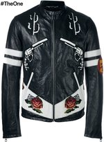 Dolce & Gabbana Western leather jacket - men - Silk/Calf Leather/Lamb Skin - 50
