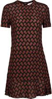 A.L.C. Louise printed silk-crepe mini dress