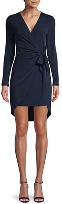 BCBGeneration Long-Sleeve Wrap Dress