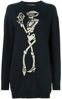 Moschino skeleton intarsia jumper dress - women - Virgin Wool - XS