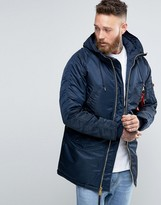 Alpha Industries N3b Slim Parka In Navy