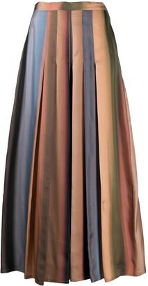 Dusan Pleated Striped Silk Trousers