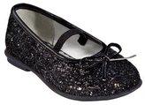 Toddler Girls' Circo® Adelaide Glitter Ballet Shoes - Black